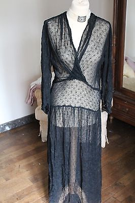 Fabulous French Vintage Black Sheer Dress from the 20s? - Amazing French Chic
