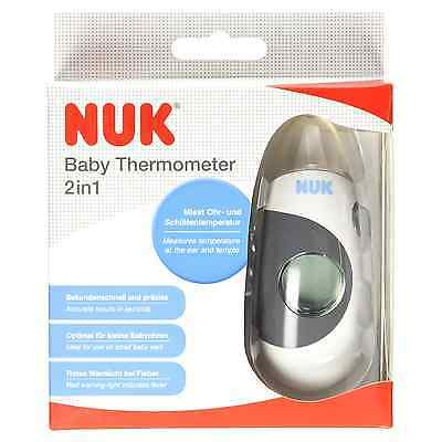 NUK 2-IN-1 BABY THERMOMETER Child hygiene Fever/Bath Safety LED Display BN