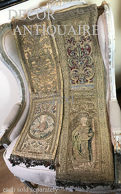 """Another Antique French Aubusson Valance Roses Flowers Passementerie 150"""""""