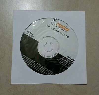Roxio Creator 9.0 DE by SONIC SOLUTIONS SOFTWARE CD New Sealed