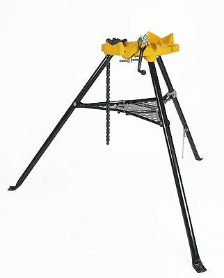 SDT 460 Portable 6 Inch Tripod Pipe Chain Vise Stand fits RIDGID® 72037 36273