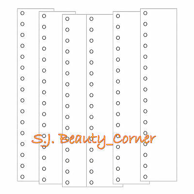 Embroidery Thread Organizer Cards - 16 Holes - Pack of 6 - New - Embroidery  New