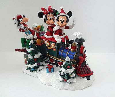 Santa Mickey Mouse & Friends on Train Figure Theme Park New with Tag