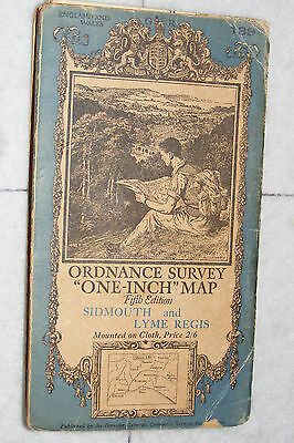 "Ordnance Survey,""One-Inch""Map,Sidmouth & Lyme Regis,sheet 139 Fifth Edition,1937"