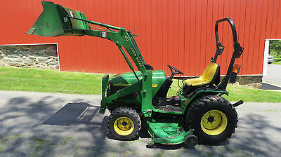 2003 John Deere 4110 4X4 Compact Utility Tractor W/ Loader & Belly Mower Hydro
