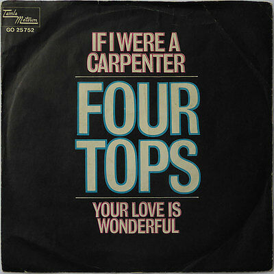The Four Tops - If I Were A Carpenter - Deutschland 1968 - VG+ to VG++