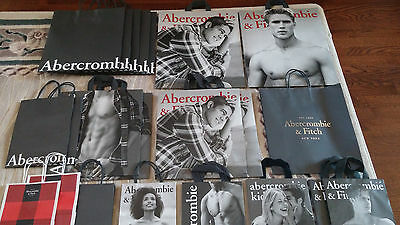 Lot 22 Abercrombie & Fitch Models  shopping Bags