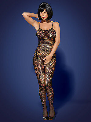 Bodystocking Catsuit ouvert Overall 36-38-40 OS Reizwäsche Obsessive F219