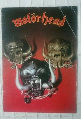 Motorhead Tour Book Programme Iron Fist 1982 Very Rare Vintage