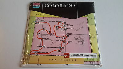 Viewmaster packet set 3d COLORADO map cover