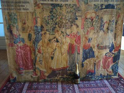 "A Large French Aubusson Style Wall Hanging/Tapestry( 5foot 8.75"" x 4foot 7.5"")"