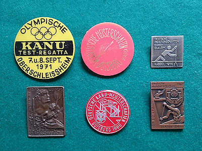 6 German Canoe championship badges