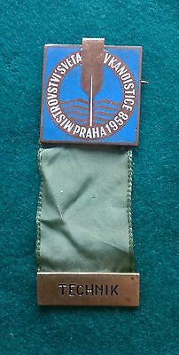 1958 Prague World Canoe Sprint Championship Technik (technician) badge