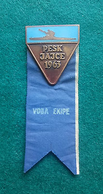 1963 Jajce World Canoe Sprint Championship Voda Ekipe (Team Leader) badge