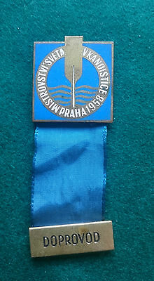 1958 Prague World Canoe Sprint Championship Doprovod (guide) badge