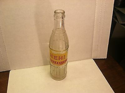 1952 Nehi Beverages ACL 9oz soda bottle with texture Jefferson City, MO