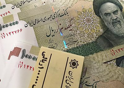 Lot 10X Iran 100000 (100,000) Rials P151 Banknote Uncirculated UNC - One Million