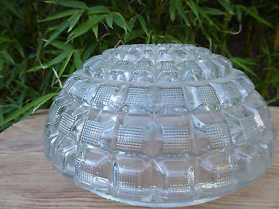"VTG Clear CEILING LIGHT SHADE  - Good Condition - 10"" Dia Cut Glass - Beautiful"