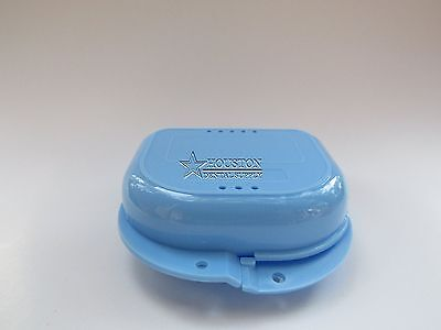 1 Dental Storage Container Ortho Retainer Box Mouthguard Denture Case LIGHT BLUE