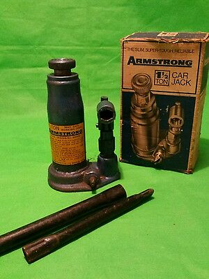 Vintage 1950s Armstrong of Yorkshire 1.5 Ton car Jack in Box