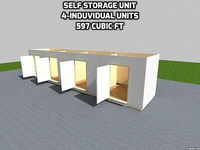 40' FT Shipping Container 4 - Self Storage Units 320 Sqft 697 Cubic Ft x 4