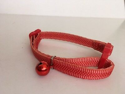 CHARITY LISTING Cat Kitten Collar Adjustable Red Orange