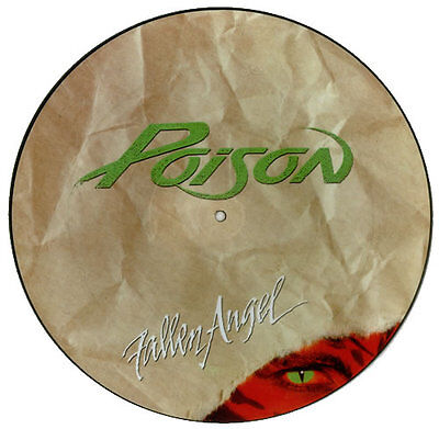 "Ex/ex Poison Fallen Angel 12"" Pic  Picture Disc"