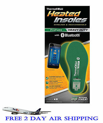 Thermacell ProFlex Heavy Duty Rechargeable Heated Insoles With Bluetooth XX-L