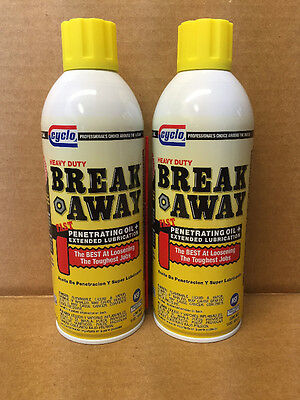 QTY 2: Professional Cyclo Break Away Penetrating Oil C10 13oz FREE PRIORITY SHIP