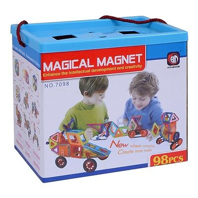 Magical Magnet Building Block Set Educational Toy For Kids Colorful Gift 98 Pcs