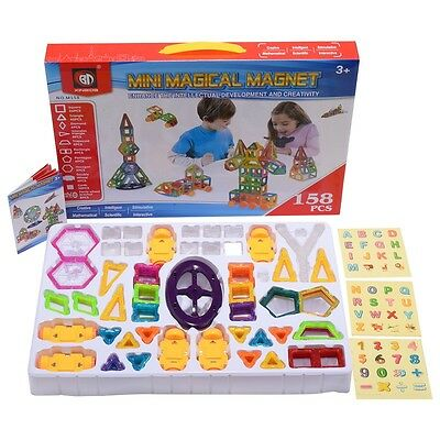 Magical Magnet Building Block Set Educational Toy For Kids Colorful Gift 158 Pcs