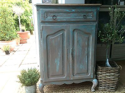 Antique French Cupboard Armoire painted
