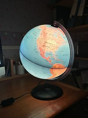 Large illuminated globe - bedside light - excellent condition