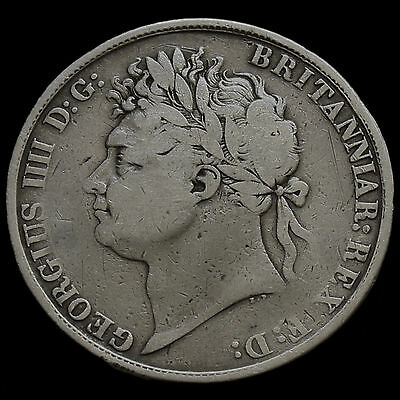 1821 George IV Milled Silver Secundo Crown – A/F