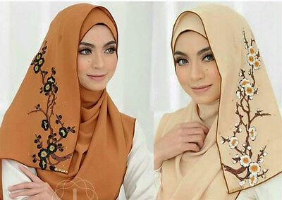 PullOn Ready Made Luxury Instant Hijab EasyToWear Shawl Muslim Jilbab Head Scarf