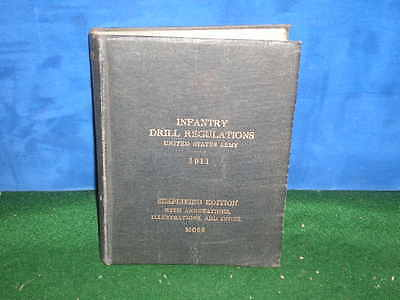 WWI 1911 1916 book INFANTRY DRILL REGULATIONS Simplified Edition MOSS Signed