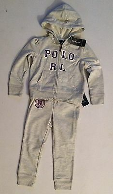 Ralph Lauren Girls Grey Tracksuit Age 3, 5 Rrp £120 Now £49.50 Each