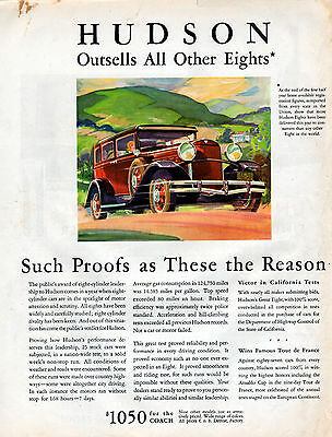 1930 Hudson Car Ad --Great Eight -----v249