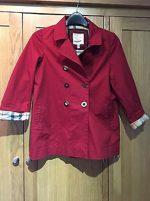 Joules Red Jacket Girls Jacket Coat Age 8 9 Years