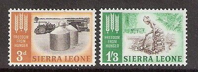 Sierra Leone 1963 Freedom From Hunger Complete Set MNH (SC# 240-241)
