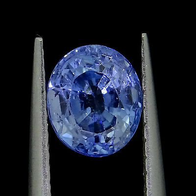 loose Natural Unheated Blue Sapphire 1.15ct 6x5 oval cut loose gemstones