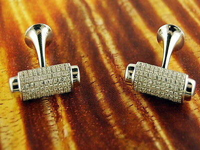 Sterling Silver Cufflinks-Fancy-Cz stones-Groomsman-Groom-Wedding-Wedding Gift-