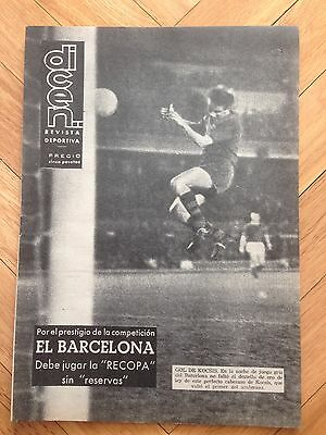 Dicen Winners Cup 1963 1964 Barcelona 3-1 Shelbourne Very Rare!!!!