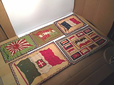 Mixed Lot of Flannel Tobacco Flag Inserts 1910s