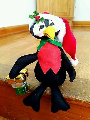 """ANNALEE Christmas Formal Delivery Penguin 8"""" 743600 Holiday Presents"""