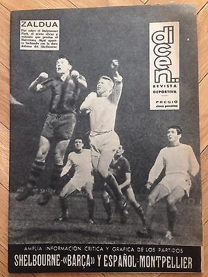 Dicen Winners Cup 1963 1964 Shelbourne 0-2 Barcelona Espanyol Montpellier Rare!!