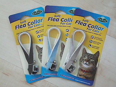 Cat Flea Collar with Bell - Safe, effective, UK Manufactured, comfy, soft