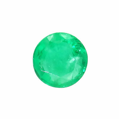 Natural loose untreated emerald 0.35ct 4.5mm round  loose gemstones