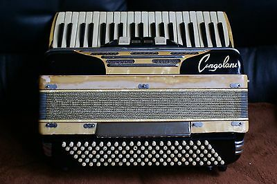 """CINGOLANI """"Custom built"""" accordion/accordian! 3 reed sets! Made In Italy !"""