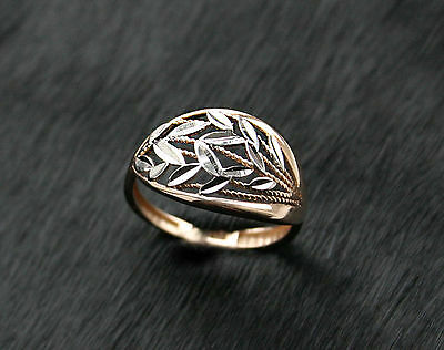 585 Russian Rose Gold 14ct Delicate Stylish Ring Size M-16.5 gift boxed